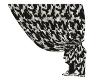 Vanis Curtain-Blk-White