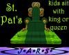 Kids sit w/ King/Queen