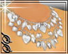 !SS Silver Hearts Neckla