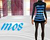 Blue Striped Woolen