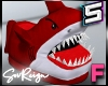 ! F Angry Shark Slippers