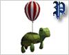 Turtle Balloon /RedWhite