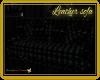 Leather sofa black