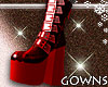 Shiny Boots Red