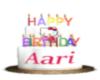 Aari Birthday cake