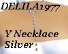 D77 -Silver Y necklace