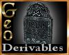 Geo Stone Headstone