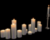 White Floor Candles