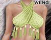 [W] Tassel halter green