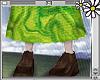 70s green skirt