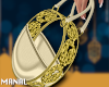 Gold circle bag
