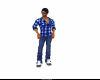 Men Blue Flannel Shirt
