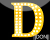 D YELLOW Letter Lamps