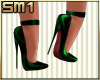 SM1 7in Str Heels Green