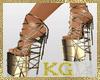 KG*GoldSandals/Straps