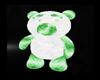 Green White Teddy Bear