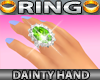 Dainty Hand Ring Emerald
