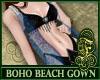 Boho Beach Gown Blue