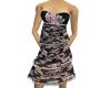Black/Pink Floral Dress