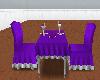 purpletable dinner for2