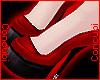 ♀ Latex Heels |Red/Blk