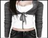 Gray Sweater White tee