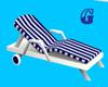 *G* Blue&White Recliner