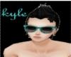 Aqua/Black raybans