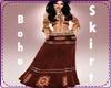 Brown Boho Long Skirt