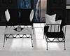JV Metal Sofa Set B/W
