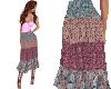 TF* Print Midi Skirt