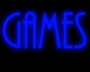 OJ* Blue Neon Games Sign