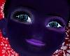 Purple black glowey skin