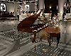 Walnut & Blk Piano