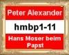 HB Moser beim Papst