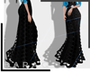 [bq] Long skirt BLK