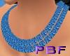PBF*Blue Topaz Choker