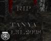 }T{ Tanya Grave marker