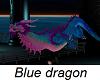 Blue & Pink Asian dragon