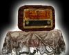 Antique radio on lace