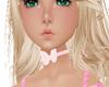 choker pink bow