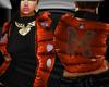 Rust Moncler Vest w/Blk