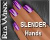Wx:Slender Purple Nails
