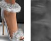 A|RabbitFur{Sandal;Blanc