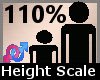 Scale Height 110% F A