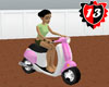#13 Vespa Moving Pink