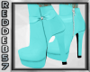 Turquoise Ankle Bootie