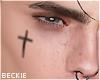 Face Tat - Cross