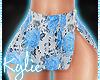 RL Blue Floral Skirt