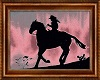 Red Sky Cowgirl Painting